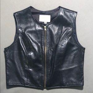 ⚡️Sale! Black Leather Vest